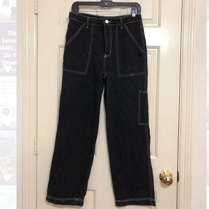 Dark Wash Blue Pants Jeans Baggy Skater 27 f21